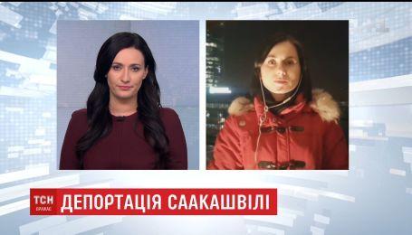 Екс-очільник Грузії телефоном поспілкувався зі своїми прихильниками з Варшави