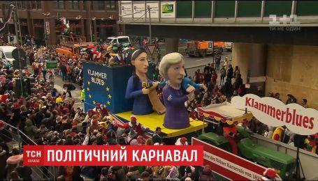 В Германии на карнавале стебались с основных политических событий года