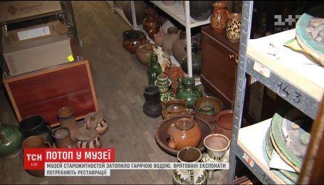 Через прорив на теплотрасі музей Гончара ледь не лишився цінних експонатів
