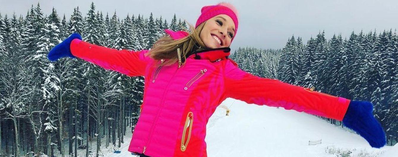 Утеплилась: Катя Осадчая поделилась ярким снимком из Буковеля
