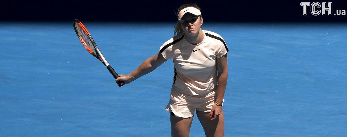 Свитолина вылетела с турнира в Дохе, проиграв 21-й ракетке мира