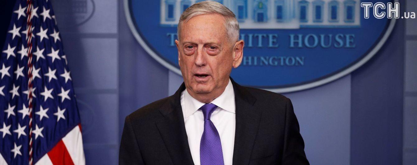 Меттіс підкреслив, що розміщення американських військ в Південній Кореї на саміті США і КНДР не буде обговорюватися