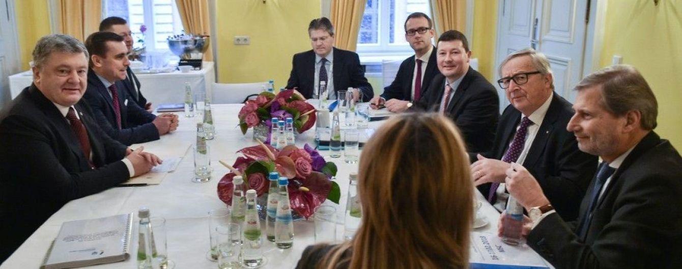 """Макрофинансовая помощь и """"Северный поток-2"""". О чем говорил Порошенко с Юнкером в Мюнхене"""