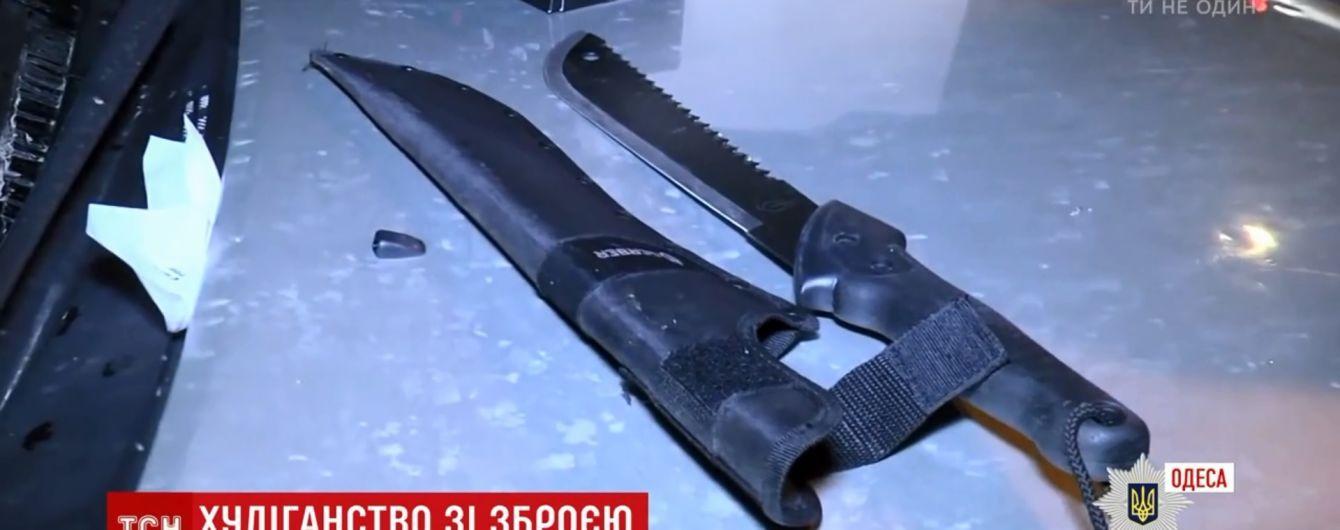 Трое вооруженных ножами россиян набросились на прохожих в центре Одессы