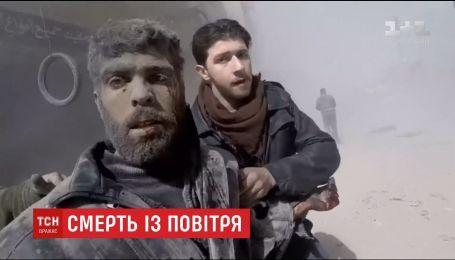 Более семидесяти человек погибли в результате удара авиации и артиллерии в Сирии