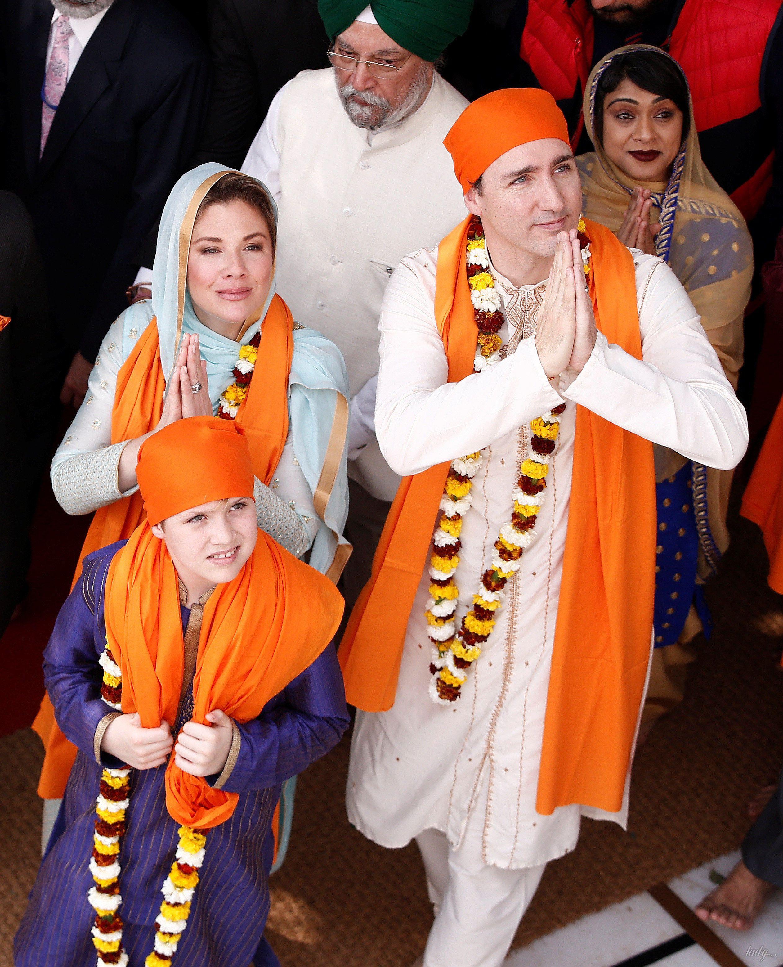 Премьер-министр Канады Джастин Трюдо, его жена Софи Грегуар, дочь Элла Грейс и сын Ксавье_2