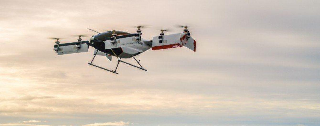Airbus показал видео первого полета воздушного такси