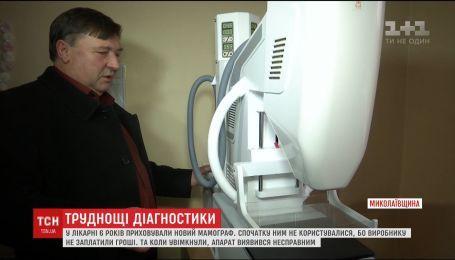 У Первомайській лікарні новий новенький мамограф простояв на складі 6 років
