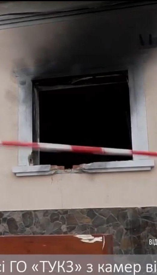 Камерам спостереження вдалось зафіксувати підрив Товариства угорської культури Закарпаття