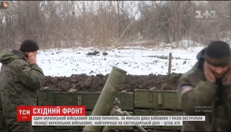 Один украинский военный получил ранения на восточном фронте