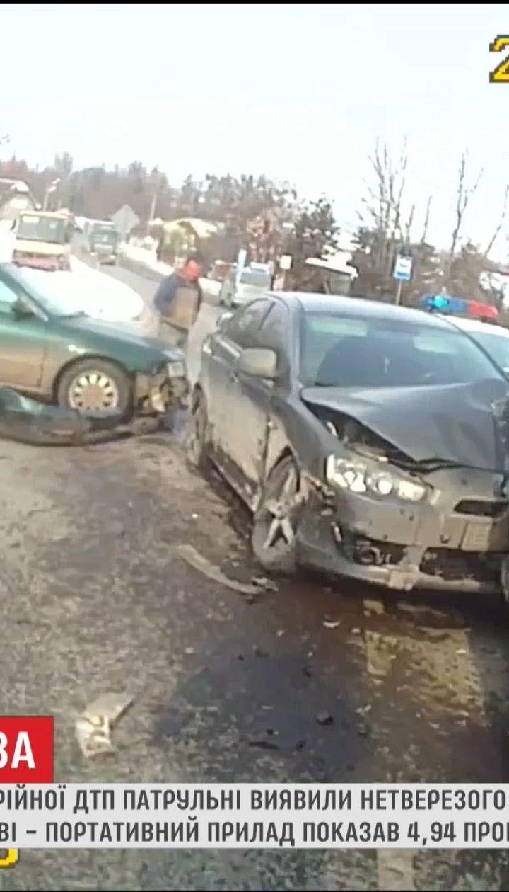 Во Львове задержали водителя с дозой алкоголя в крови, в 24 раза превышает норму