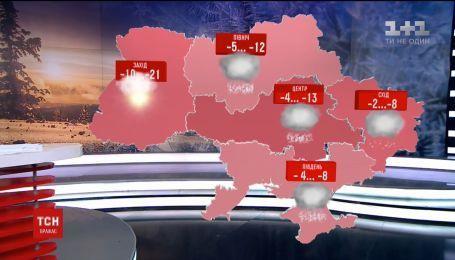 В первый день весны новый циклон принесет в Украину снегопады и штормовой ветер