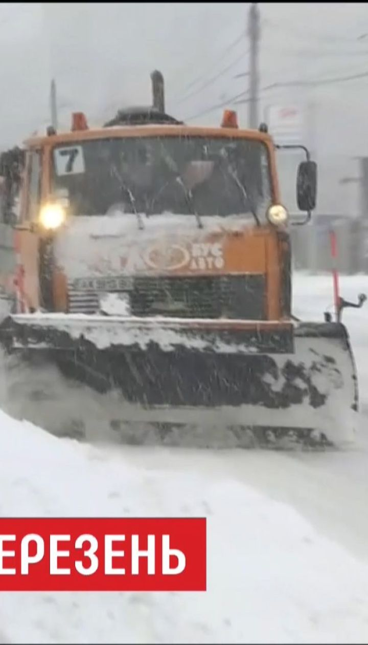 Україна потерпає від найбільшого снігопаду у сезоні