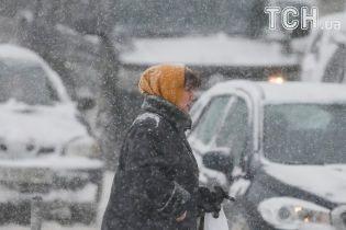 Из-за первого существенного снегопада Укргидрометцентр объявил штормовое предупреждение