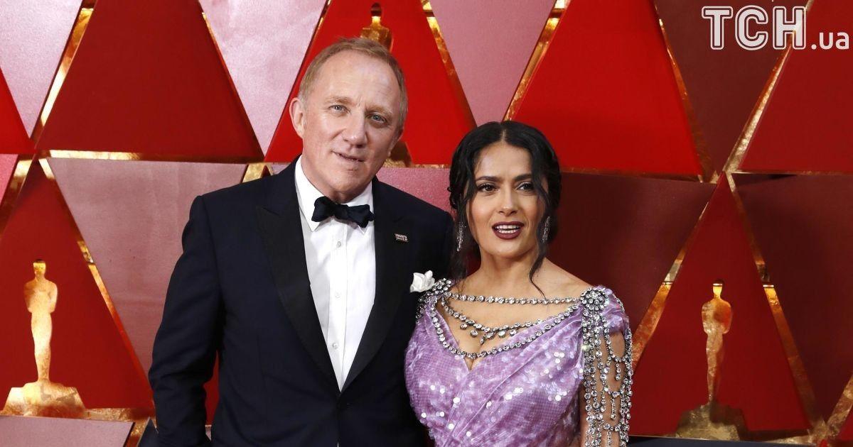 Салма Гайек с мужем Анри Пино