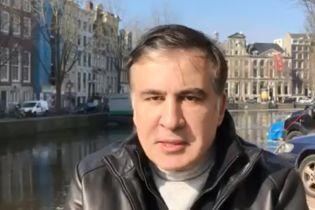 Саакашвили отреагировал на демонтаж палаток у Рады видеообращением на фоне каналов Амстердама