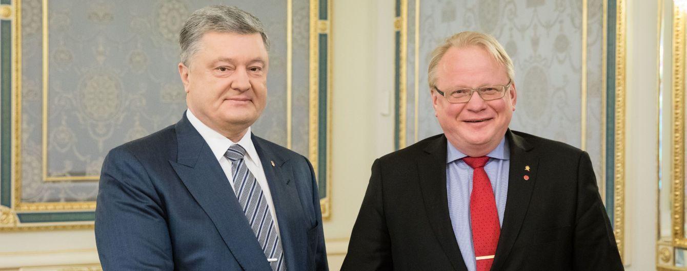 Порошенко призвал Швецию не допустить газового шантажа России против Украины и Евросоюза