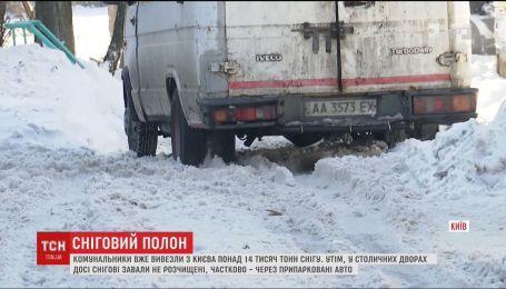 Коммунальщики вывезли из Киева более 14 тысяч тонн снега