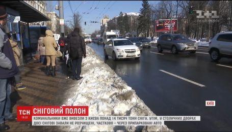 Кияни вважають, що скаржитися ЖЕКу на кучугури снігу марно