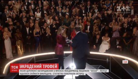 "У актрисы Фрэнсис Макдорманд украли статуэтку ""Оскар"""