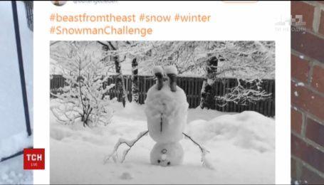 Европейцы устроили флешмоб снеговиков