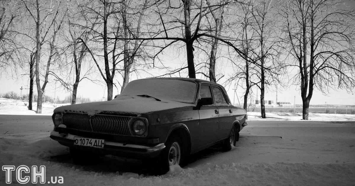 """Автомобиль «Волга» в Новолуганске @ Дмитрий Мороз/Журналист """"Спецкор"""""""