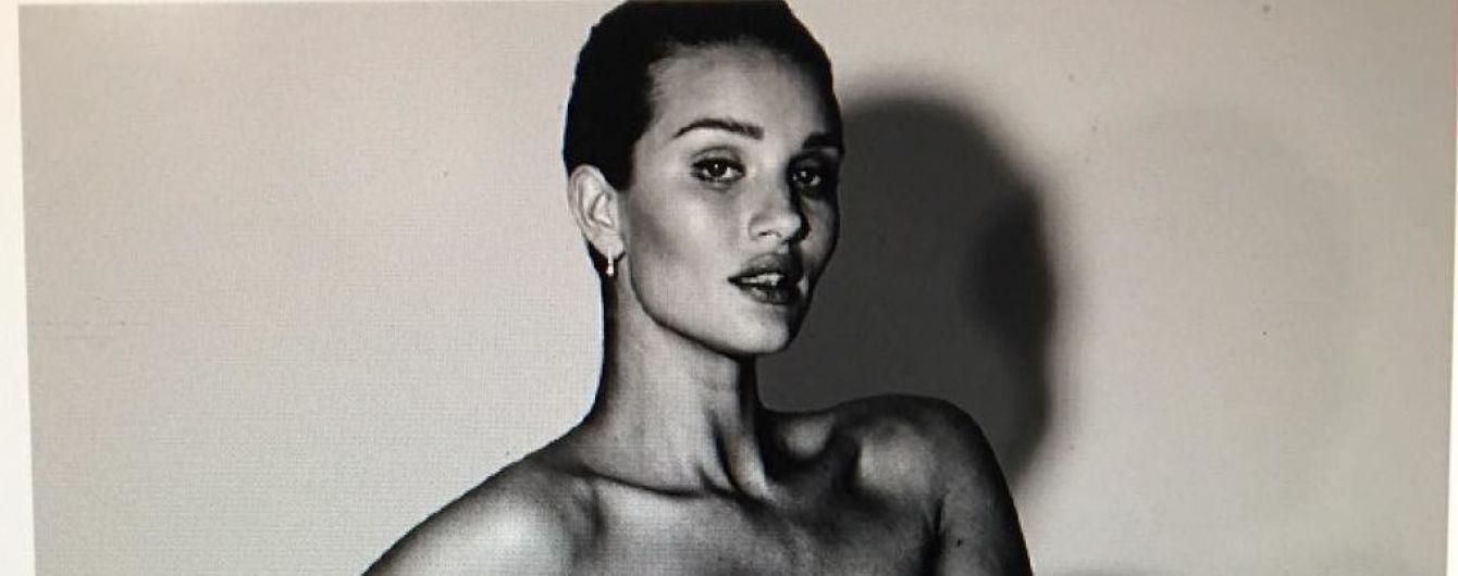 Беременная и обнаженная: Рози Хантингтон-Уайтли показала редкий снимок