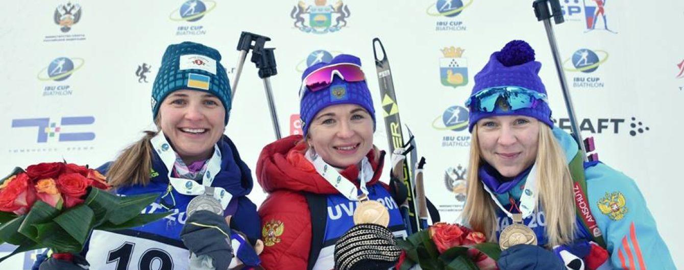 Українська біатлоністка Журавок виграла срібну медаль на етапі Кубка IBU