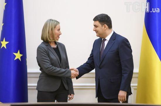 Гройсман та Могеріні планують в Брюсселі обговорити євроінтеграцію України