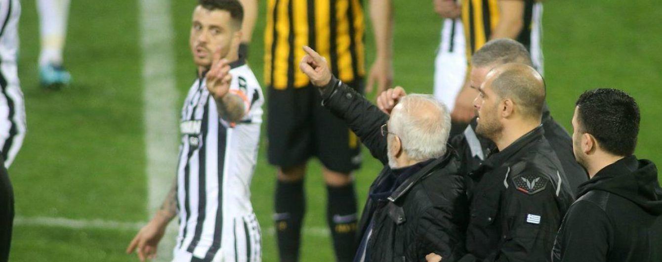 Чемпионат Греции по футболу приостановили после скандального инцидента с российским владельцем ПАОКа