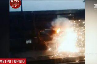 В киевском метро произошел пожар