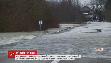 Тепло в Хорватии вызвало наводнение в стране