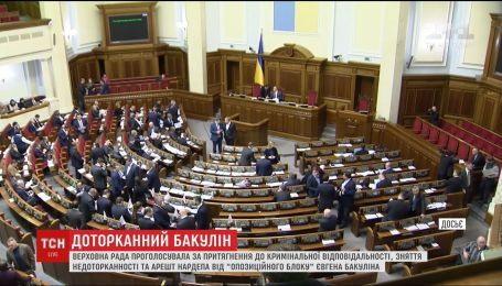 "Парламент снял неприкосновенность с нардепа от ""Оппозиционного блока"" Бакулина"