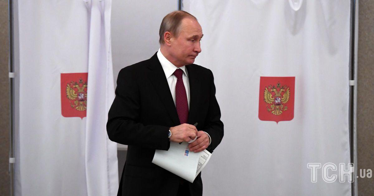 Путін проголосував на виборах @ Reuters