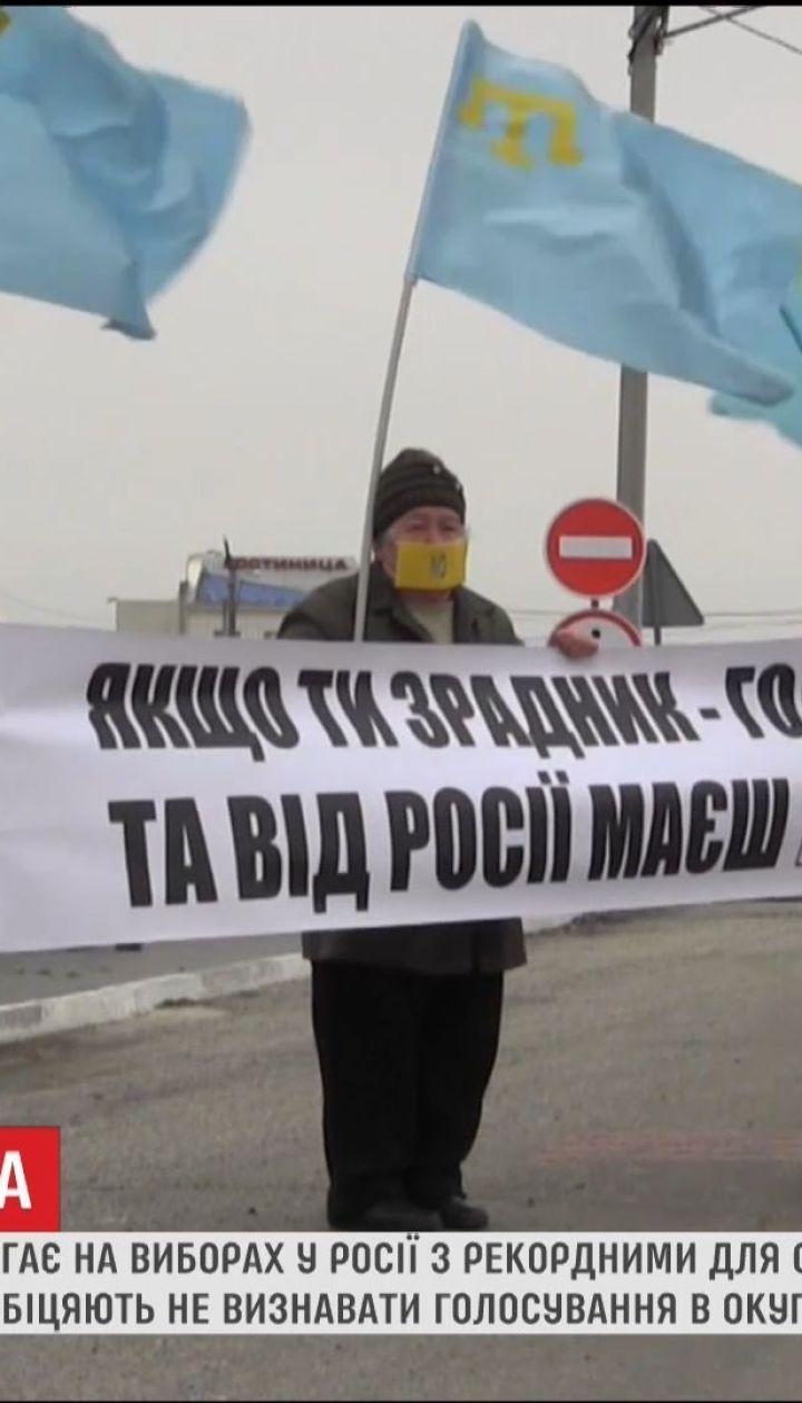Погрози та медалі: як минули в Криму незаконні вибори президента РФ