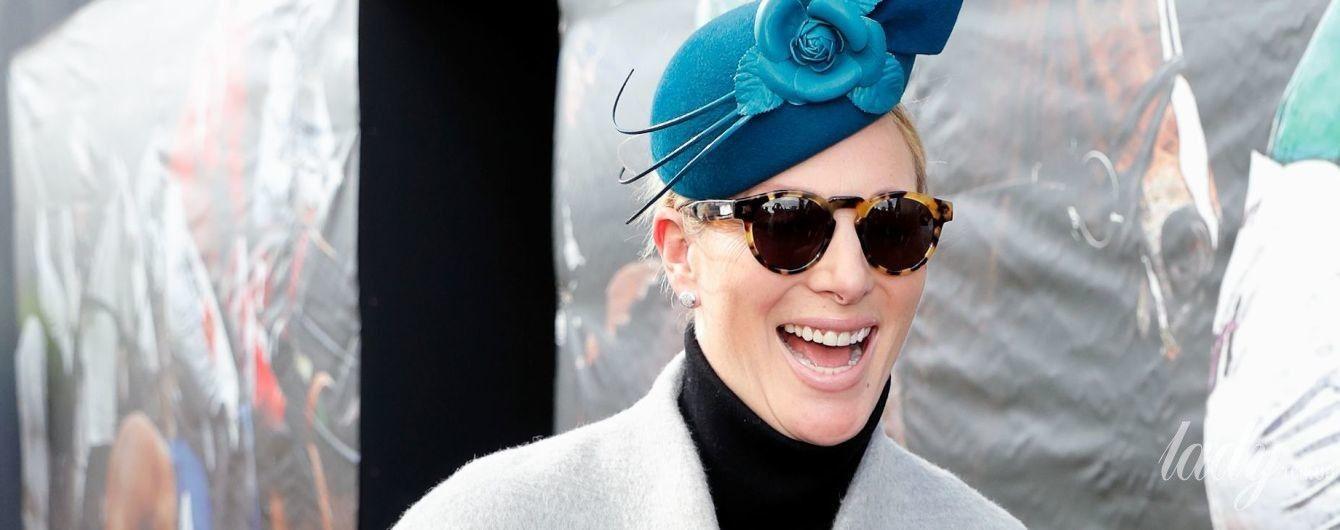 В новой шляпе и леопардовых очках: стильный образ беременной Зары Тиндолл
