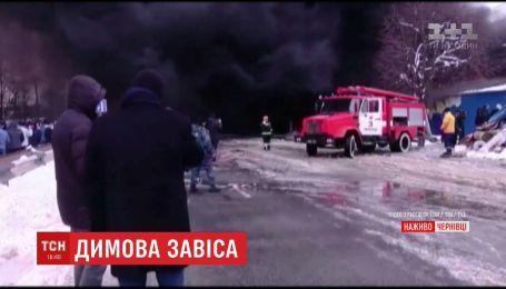 У Чернівцях палає один з найбільших базарів України