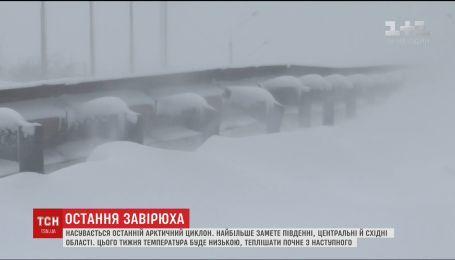 Украину накроют последние метели