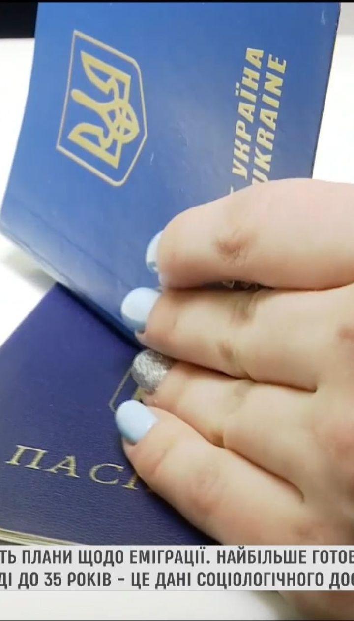 Треть украинцев хотят жить или работать за границей