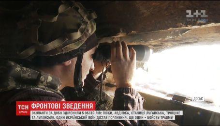 На Донецком направлении оккупанты обстреляли Пески и Авдеевку