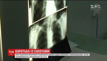 ВООЗ відзначає позитивну тенденцію в Україні щодо боротьби із туберкульозом