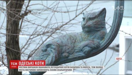 Улицы Одессы постепенно заполняют скульптурами известных котов