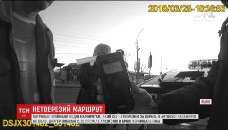 Полиция задержала нетрезвого водителя автобуса во Львове