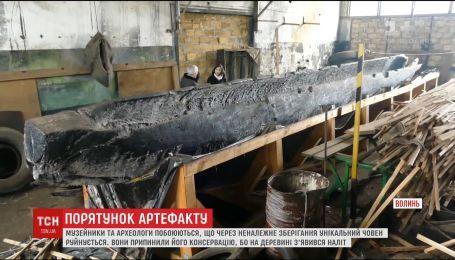 На Волині руйнується пам'ятка часів Київської Русі – 12-метрова довбанка