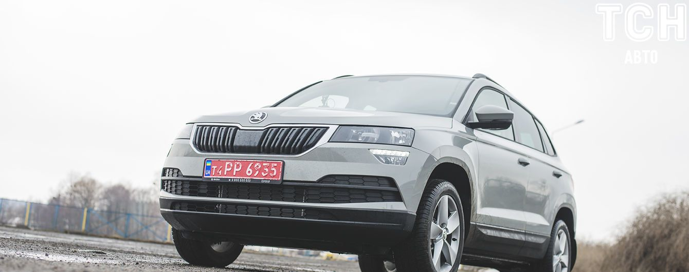 Новый кроссовер Skoda Karoq испытали украинскими дорогами
