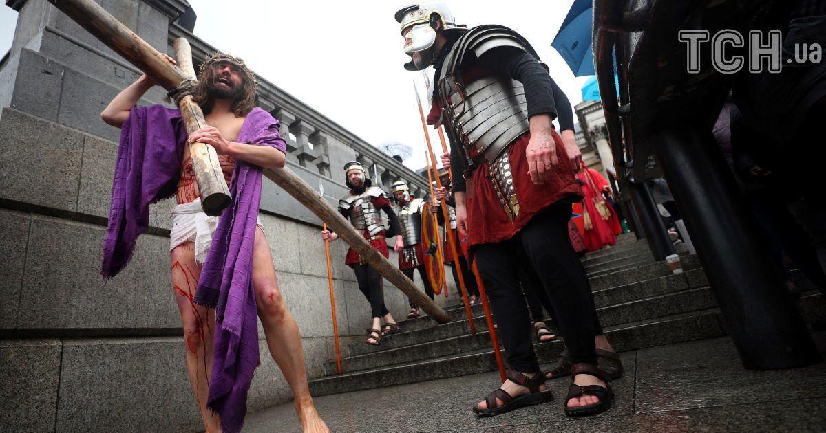 Театралізоване дійство за євангельськими мотивами відбулося в центрі Лондона. @ Reuters