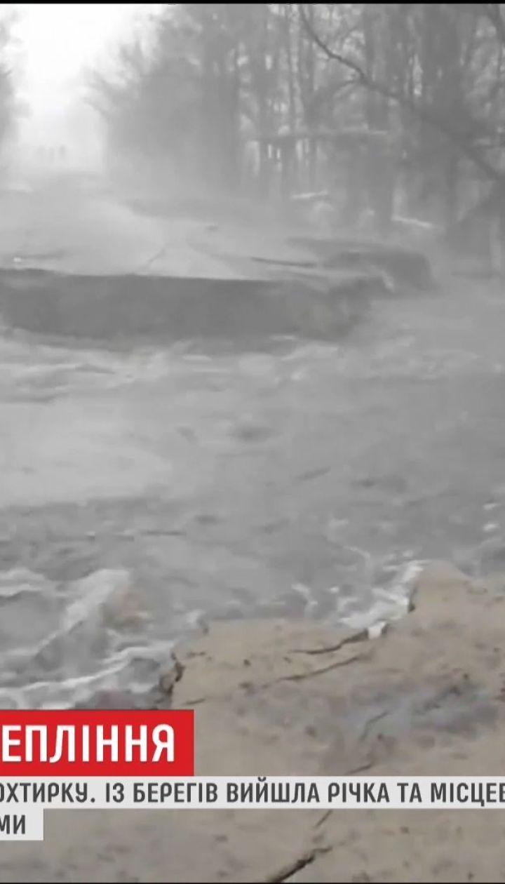 Последствия потепления: уровень воды в Ахтырке местами достигает метра