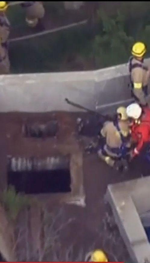 В США спасатели полдня искали парня, который провалился в канализацию
