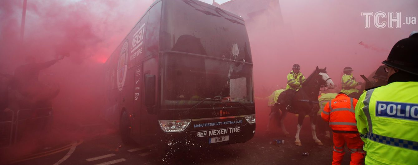 """Уболівальники """"Ліверпуля"""" розбили автобус """"Манчестер Сіті"""" перед грою у Лізі чемпіонів"""