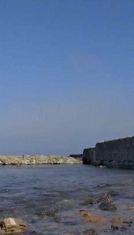 Одесские пляжи после шторма оказались под водой